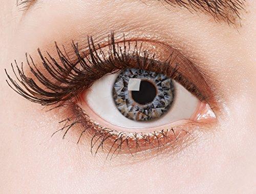 aricona Kontaktlinsen Farblinsen  N°567 - Farbige 12-Monats Kontaktlinsen Paar ohne Stärke, weich und angenehm zu tragen, Wassergehalt: 42%, Diamonds are girl´s best friends , Farbe:Blau