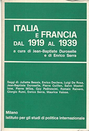 Italia e Francia dal 1919 al 1939