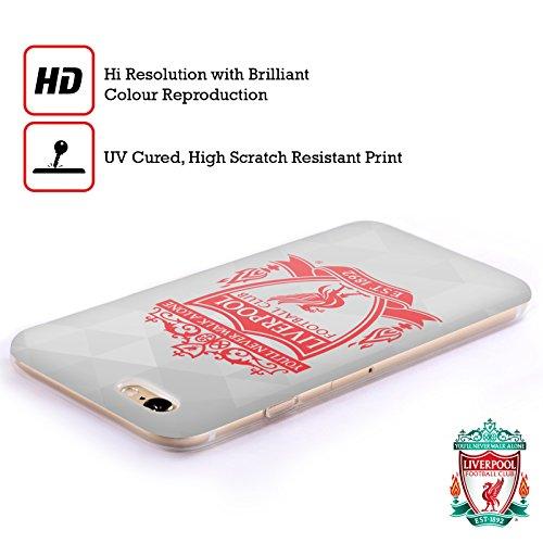 Offizielle Liverpool Football Club Schwarz 2 Crest 1 Soft Gel Hülle für Apple iPhone 6 / 6s Weiss Geometrisch 2