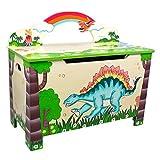 Teamson TD-0074A Dinosaurier Spielzeug Box