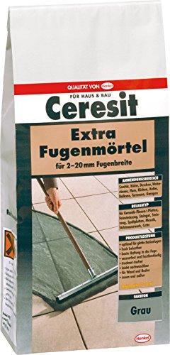 Ceresit Fugenmörtel Extrabreit, 2-20 mm, 5 kg, grau, CB5GR
