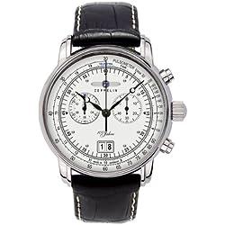 Zeppelin Watches Herren-Armbanduhr XL Analog Quarz Leder 7690-1
