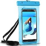 ONEFLOW Wasserdichte Hülle für Samsung Galaxy | Full Cover in Blau 360° Unterwasser-Gehäuse Touch Schutzhülle Water-Proof Handy-Hülle für Galaxy A3 A5 A6 A7 2018 2017 UVM Case Handy-Schutz