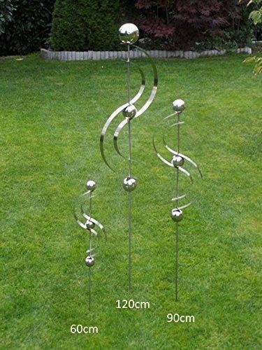 "Edelstahlstele Design 16\"" Gartenstecker Edelstahl Edelstahlskulptur verschiedene Höhen"