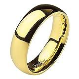 Mianova Band Ring Edelstahl Bandring Ehering Herrenring Damenring Partnerring Verlobungsring Damen Herren Gold Größe 60 (19.1) Breit 5mm