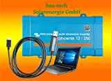 Spannungswandler Victron Phoenix 12V-500Watt VE.Direct reiner Sinus Inverter inklusiv Victron VE. Direct USB Kabel von bau-tech Solarenergie GmbH