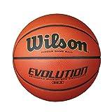 Wilson Evolution Indoor Basketball für Training und Wettkampf | Optimale Ballkontrolle | Verschiedene Größen und Gewichte | Kunstleder