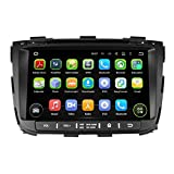 8 Zoll 2 Din Android 5.1.1 Lollipop OS Autoradio für Kia Sorento 2013 2014,DAB+ radio kapazitiver Touchscreen mit Quad Core 1.6G Cortex A9 CPU 16G Flash und 1G DDR3 RAM GPS Navi Radio DVD Player 3G/WIFI Aux Input OBD2 USB/SD DVR