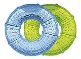Goldi Lot de 2 anneaux de dentition et anneau de refroidissement Bleu/vert