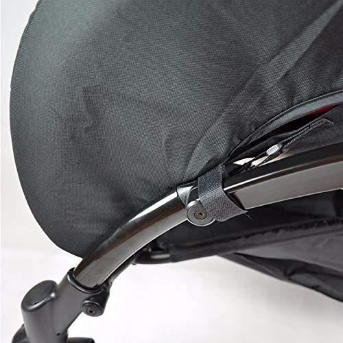 Imagen para Saco para cochecito largo/cobertura para pie/protección contra la lluvia y viento - apto para silla de paseo YOYO y baby yoya (color: negro)