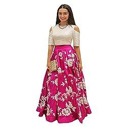 dresses for women(Vaankosh Fashion Pink Cotton Semi-Stitch Dress for Women)