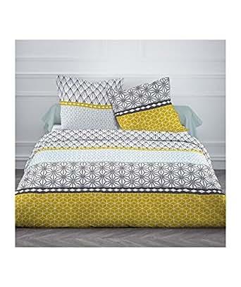 finlandek parure de couette kaisu 100 coton 1 housse de couette 200x200 cm 2 taies d. Black Bedroom Furniture Sets. Home Design Ideas