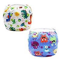 Z-Chen 2pcs Baby Reusable Swim Nappy Diaper, Set 1