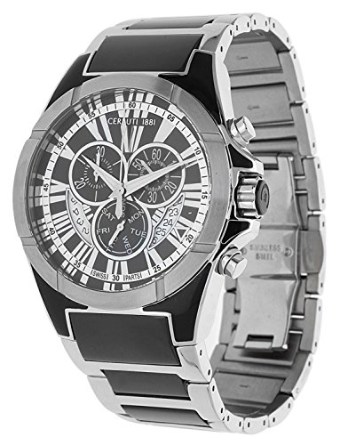 Cerruti Hombre Reloj de pulsera Cronógrafo Negro cra037N221g