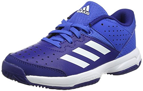 adidas Unisex-Kinder Court Stabil Jr Handballschuhe, Rot (Blue/Ftwr White/Mystery Ink), 36 EU