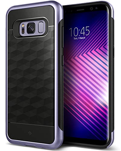 Caseology Funda Galaxy S8 Plus, [Serie Parallax] Protector Delgado de Doble Capa. Proteccion Diseno geometrico [Orquidea Gris - Orchid Gray] para Samsung Galaxy S8 Plus (2017)