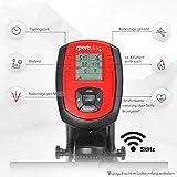 SportPlus Rudergerät für zuhause, klappbar, leises Magnetbremssystem, ca. 8kg Schwungmasse, Trainingscomputer mit 5kHz Pulsempfänger, Nutzergewicht bis 150kg - 4