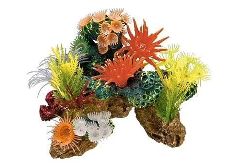 Nobby 28130 Aquarium Dekoration Aqua Ornaments, Koralle mit Pflanzen (Pflanzen Aquarium Ornament Dekoration)