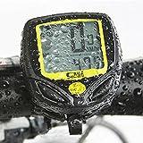 IDEALEBEN Cyclisme Ordinateur de vélo Imperméable Vélocimètre Odomètre mise en route automatique Mesure de vitesse SD-548C