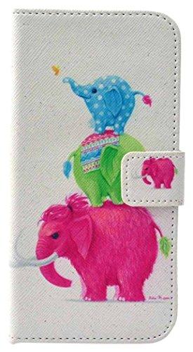 PowerQ Colorful Pattern Bunte Muster PU Etui Holster Reihe Hülle für Iphone6Plus (5.5 Inch) IPhone 6 Plus 6S IPhone6S PU Tasche mit schönen Hübsches Muster drucken Drucken Zeichnung Wallet Geldbeutel  X-2