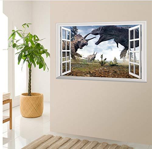 Meaosy Cartoon Movie 3D Vivid Dinosaurier Wandaufkleber Für Kinderzimmer Kinder Wandtattoos Jurassic World Home Dekoration Wandbild Poster