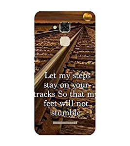 For Asus Zenfone 3 Max ZC520TL (5.2 Inches) when i m sad, she come to me with a thousand smile ( when i m sad, she come to me with a thousand smile, good quotes, man cartoon, cartoon ) Printed Designer Back Case Cover By TAKKLOO