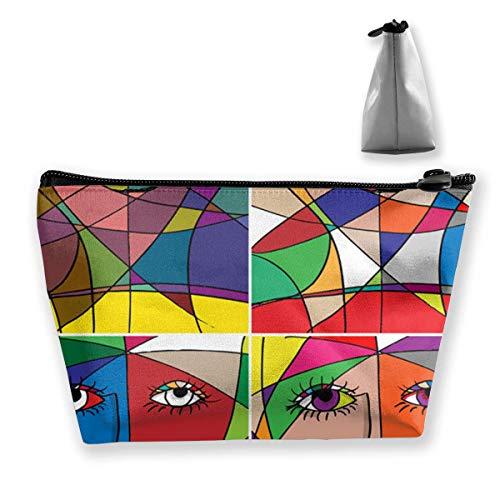 Abstrakte Frau Gesicht Kosmetik Make-up Tasche/Beutel/Clutch Travel Case Organizer Aufbewahrungstasche - Abstrakte Frau Gesicht