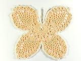 Schmetterling Fensterbild kleines Häkeldeckchen Geschenk