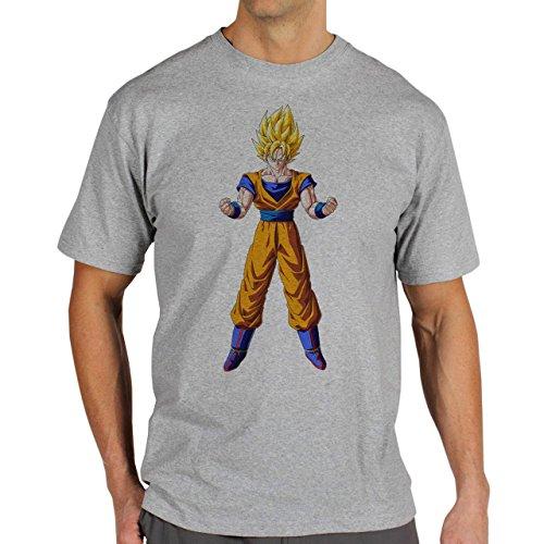 Dragon Ball Super Sayan Goku Herren T-Shirt Grau