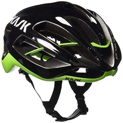 Kask Protone, Casco de Ciclismo Multiuso, Negro/Verde, L