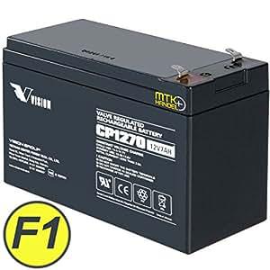 VISION cP1270/12 v 7 ah batterie aGM batterie au ploMB certifiée vDS f1