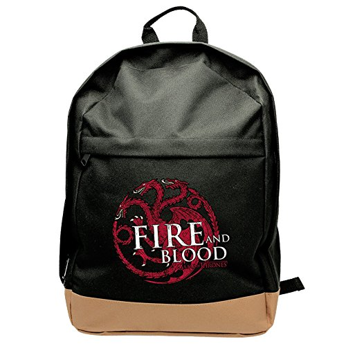 """Game of Thrones """" ldquo;-Abybag150,45cm, House of Targaryen Fire and Blood-Rucksack (groß)"""