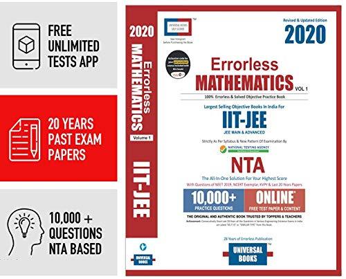 ERRORLESS MATHEMATICS JEE Mains & Advanced - 2020 by Universal Books (Set of 2 Volume), NTA