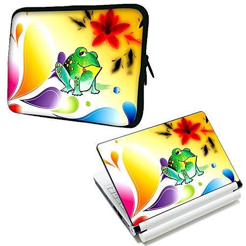 """Luxburg® 17"""" Zoll Notebooktasche Tasche aus Neopren Schutzhülle Sleeve Plus freie Laptop-Aufkleber"""