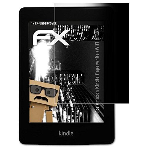 Amazn Kindl Paperwhite (WiFi & 3G) Blickschutzfolie - atFoliX FX-Undercover 4-Wege Sichtschutz Blickschutzfilter Displayschutzfolie