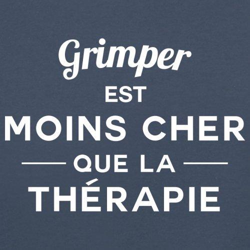 Grimper est moins cher que la thérapie - Femme T-Shirt - 14 couleur Bleu Marine