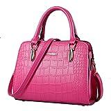Color Scissor Women's PU Leather Shoulder Bags Crossbody Top-Handle Handbag Stachel Purse