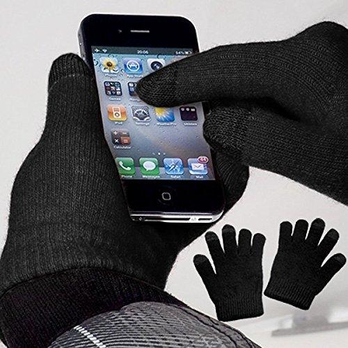 Preisvergleich Produktbild yayago Touchscreen Handschuhe Schwarz Universalgröße (ca. M – L) für Wiko Jerry