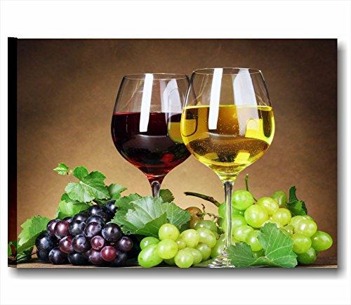 Calici di vino - Quadro moderno intelaiato