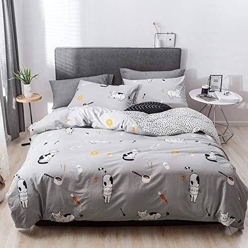 Mucalis Kaktus-Bettwäsche-Set, Baumwolle, Bettbezug-Set für Doppelbett/Queen-Size-Betten mit verstecktem Reißverschluss, 4 Eckbänder, weich, strapazierfähig, verblasst Nicht. Twin Style 5 (Queen Bett Set Mit Bettbezug)