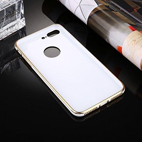 Case für iPhone 7 Plus, Galvanisieren Soft TPU Schutzhülle für Apple iPhone 7 Plus by diebelleu ( Color : White ) White