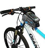 Fahrradtasche Rahmentaschen, Florally 6 Zoll Fahrrad Rahmentasche mit schwarzem reflektierendem Streifen Frarradschnalletasche Fahrradtasche Handy Rahmentasche Wasserdicht Rahmentaschen Rennrad Radtaschen für Handy mit Größe unten 6 zoll, Farhradlenkertasche Fahrradtasche Lenker