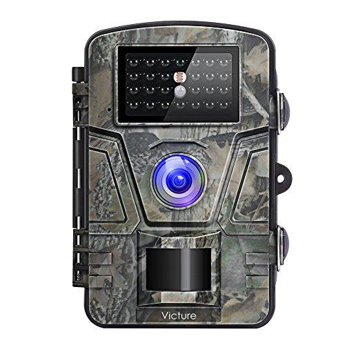 """Victure Wildkamera Fotofalle 1080P Full HD 12MP Jagdkamera Weitwinkel Vision Infrarote 20m Nachtsicht Wasserdichte IP66 Überwachungskamera mit 2.4\"""" LCD Display"""