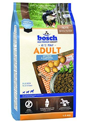 Bosch Hundefutter Adult Fisch &  Kartoffel 1 kg, 5er Pack (5 x 1kg)