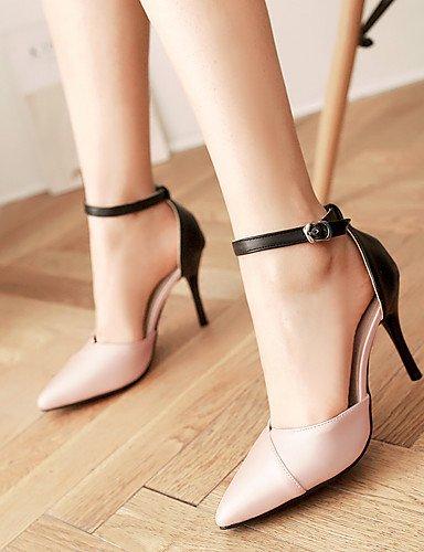 WSS 2016 chaussures d'été d'orsay des femmes&deux pièces / talons bout pointu talon aiguille boucle / creuse-out or rose d'argent pink-us5.5 / eu36 / uk3.5 / cn35