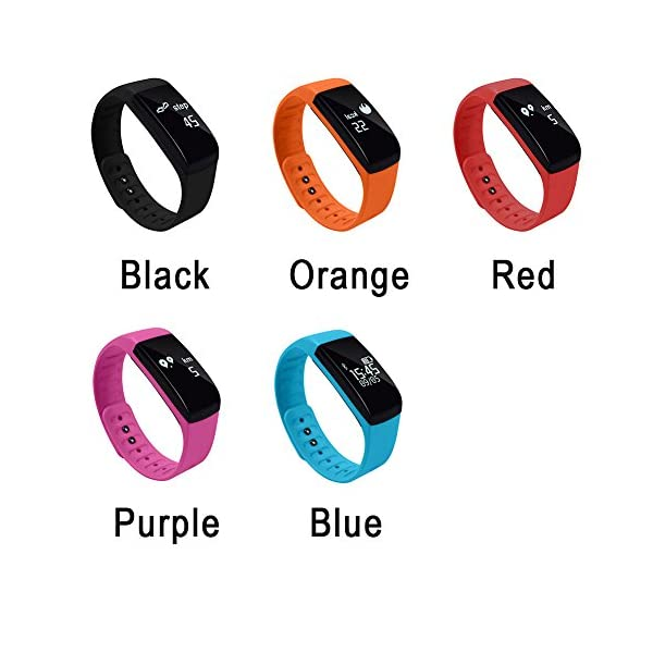 Fitness Tracker Hinmay Health Activity Tracker Smart Band W Heart Rate Blood Pressure Sleep Monitor Wristband Pedometer Calorie Sports Bracelet Message Push Waterproof Smart Watch For Android IOS