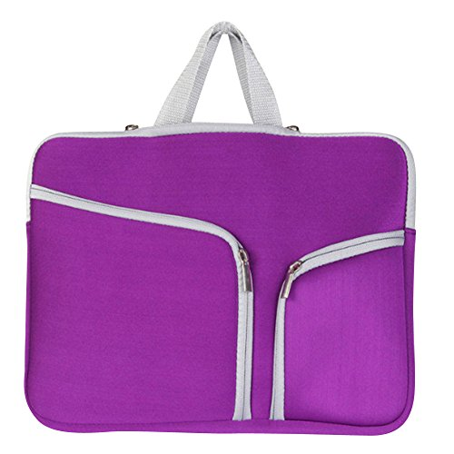 15-17 Zoll Laptoptasche Aktentaschen Handtasche Schulter Tasche Notebooktasche Laptop Sleeve Laptop hülle für Laptop Dell Alienware/MacBook/Lenovo/HP Lila