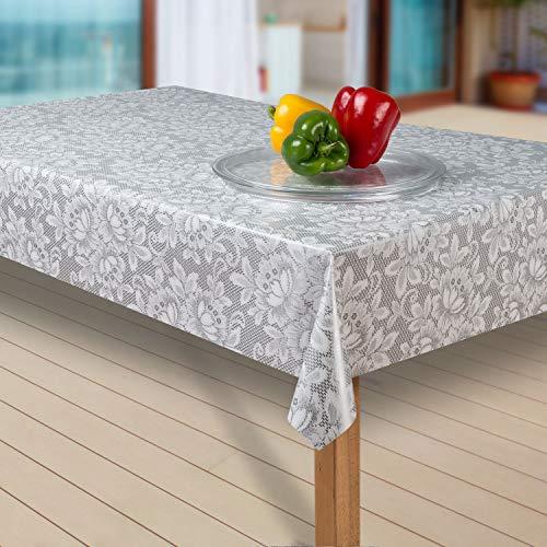 laro Wachstuch-Tischdecke Abwaschbar Garten-Tischdecke Wachstischdecke PVC Plastik-Tischdecken Eckig Meterware Wasserabweisend Abwischbar |02|, Größe:90x90 cm