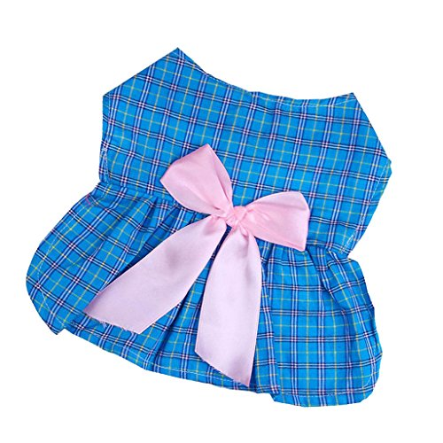 Sharplace Adorable Kleider Schleife Deko Bedruckt Kattunkleid Outfit für Lieblingshaustier - als Bild Stil11 (Adorable Outfits)
