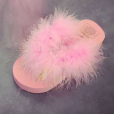 LQXZM Frauen Schuhe Herbst Winter Komfort PU-Dress Casual Ferse Reißverschluß Schnürung Schwarz Braun Burgund Blushing Pink